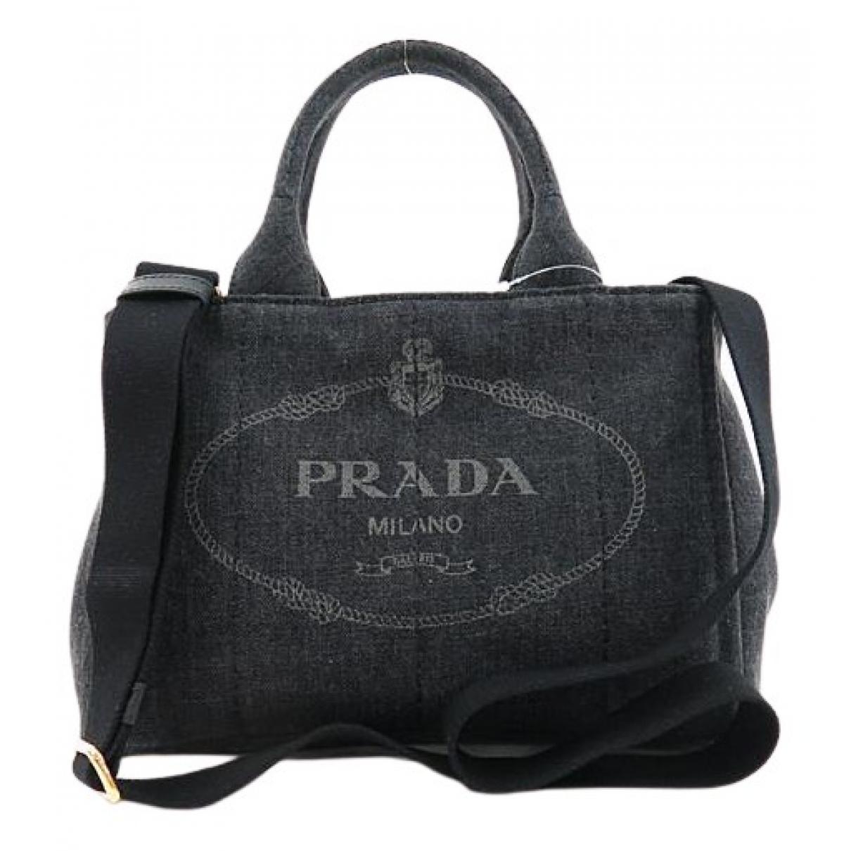 Prada \N Handtasche in  Schwarz Denim - Jeans