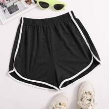 Shorts mit Space Dye und Kontrast Bindung