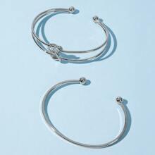2pcs Twist Cuff Bracelet