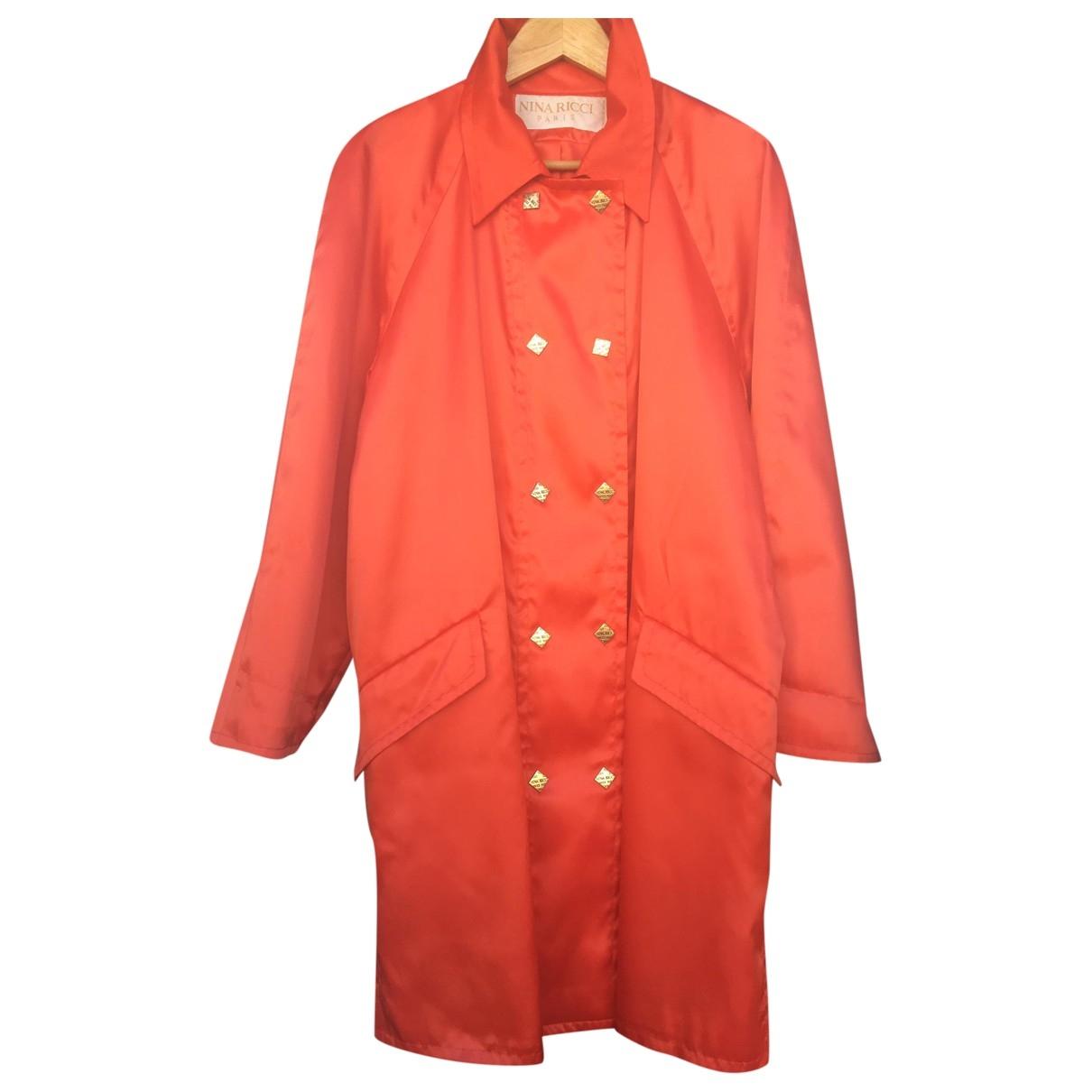 Nina Ricci \N Trench in  Orange Polyester