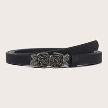 Cinturon con hebilla de flor