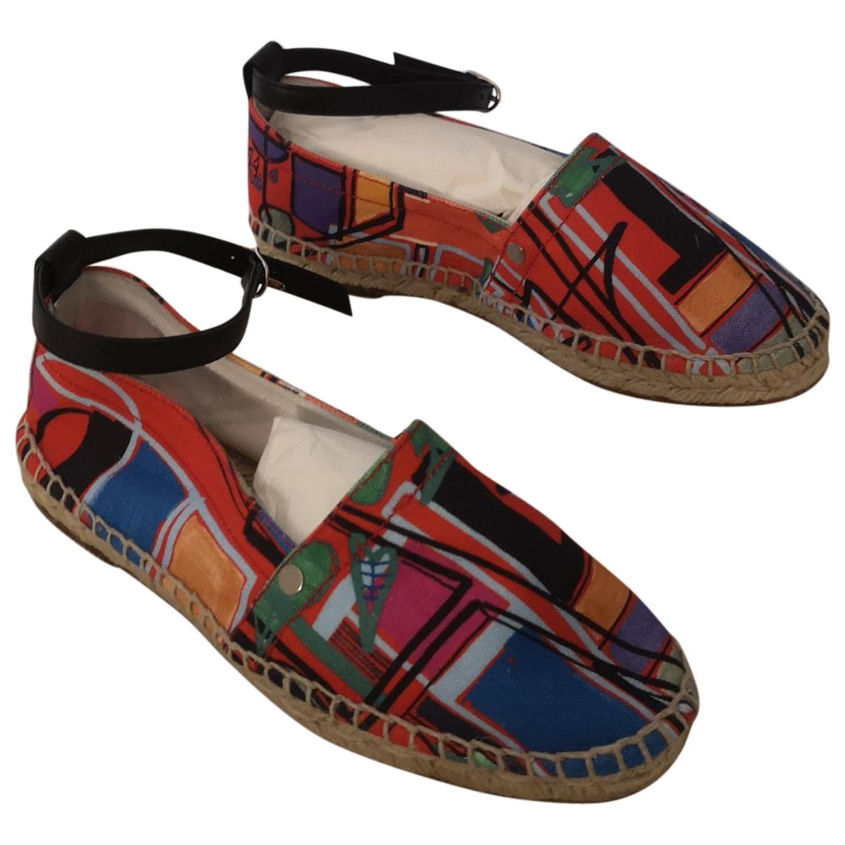 Hermes - Espadrilles   pour femme en cuir - multicolore