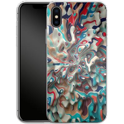 Apple iPhone X Silikon Handyhuelle - Weird Surface von Danny Ivan