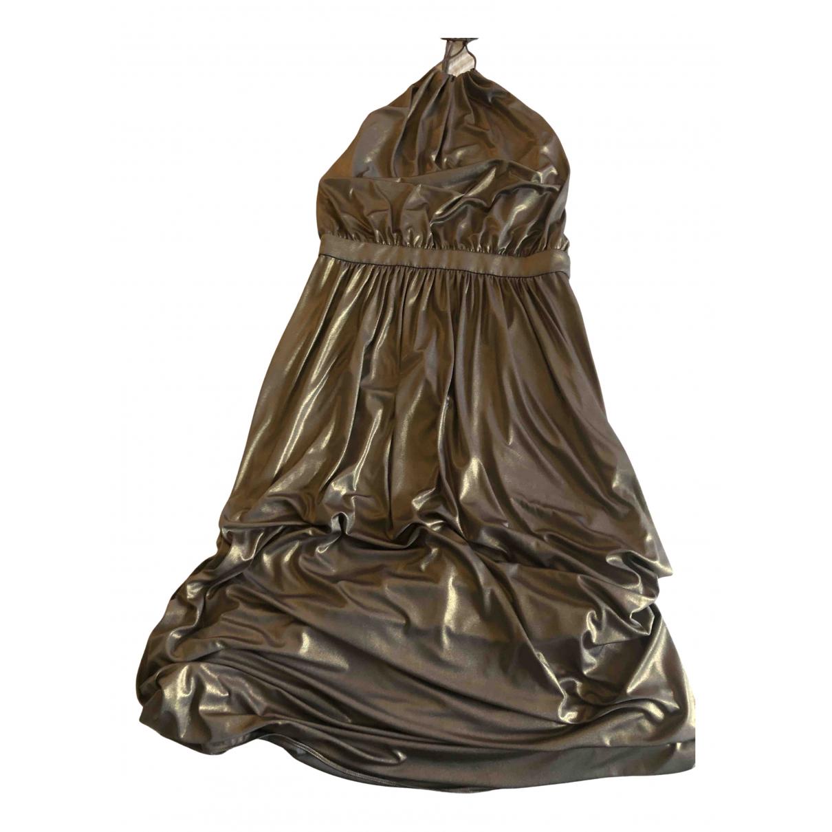 Tibi \N Kleid in  Gold Polyester