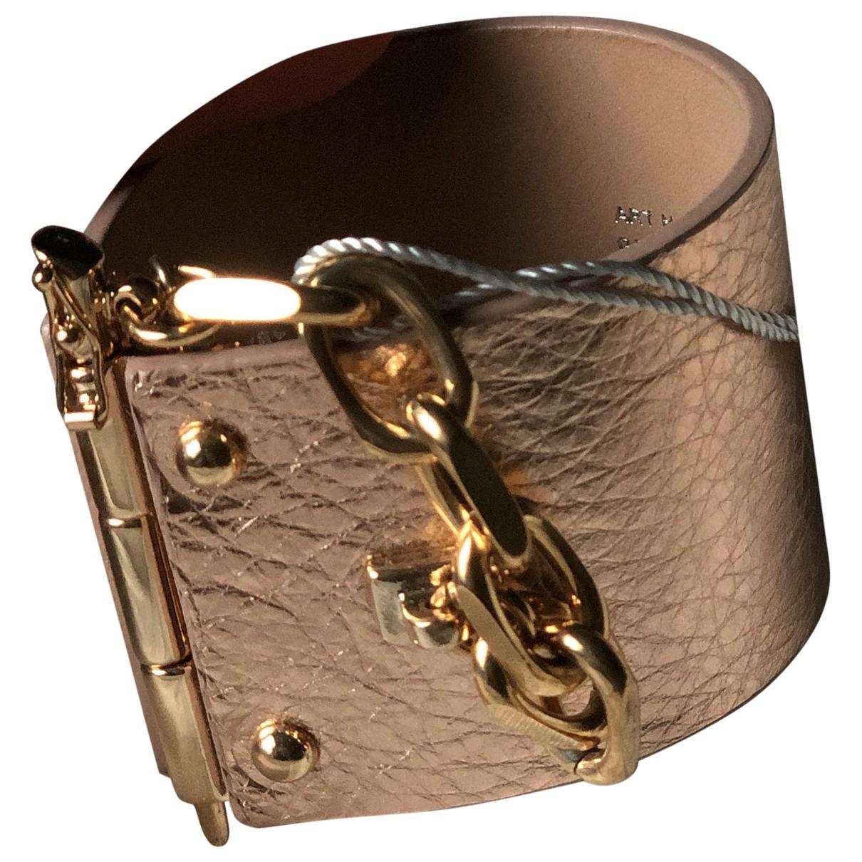J.lindeberg \N Armband in  Metallic Leder