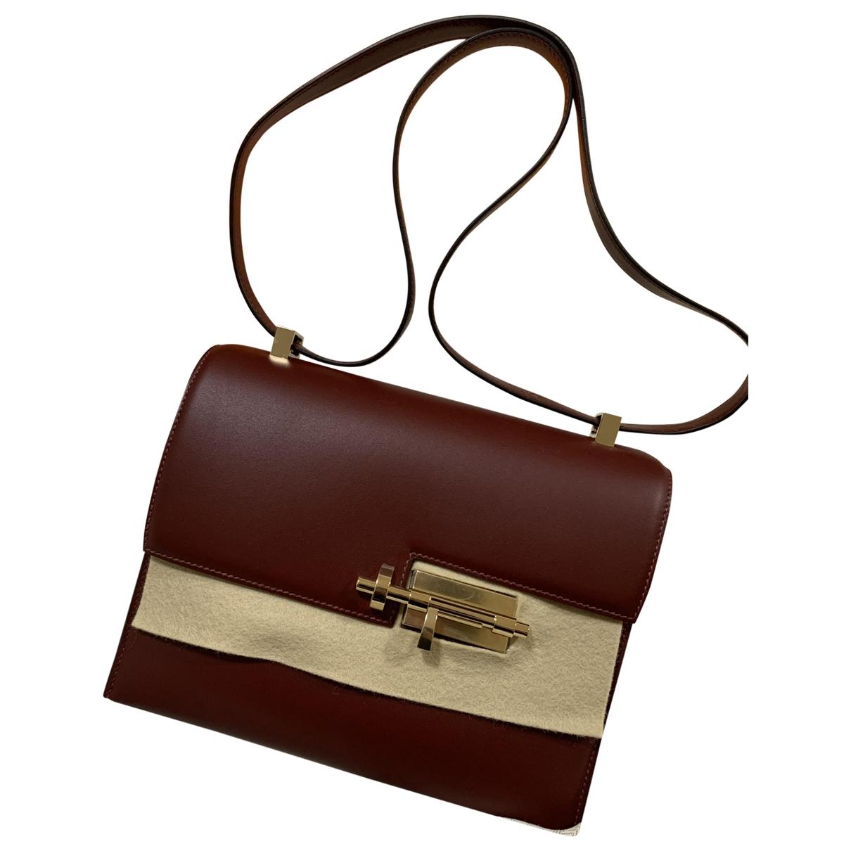 Hermès Verrou Red Leather handbag for Women \N
