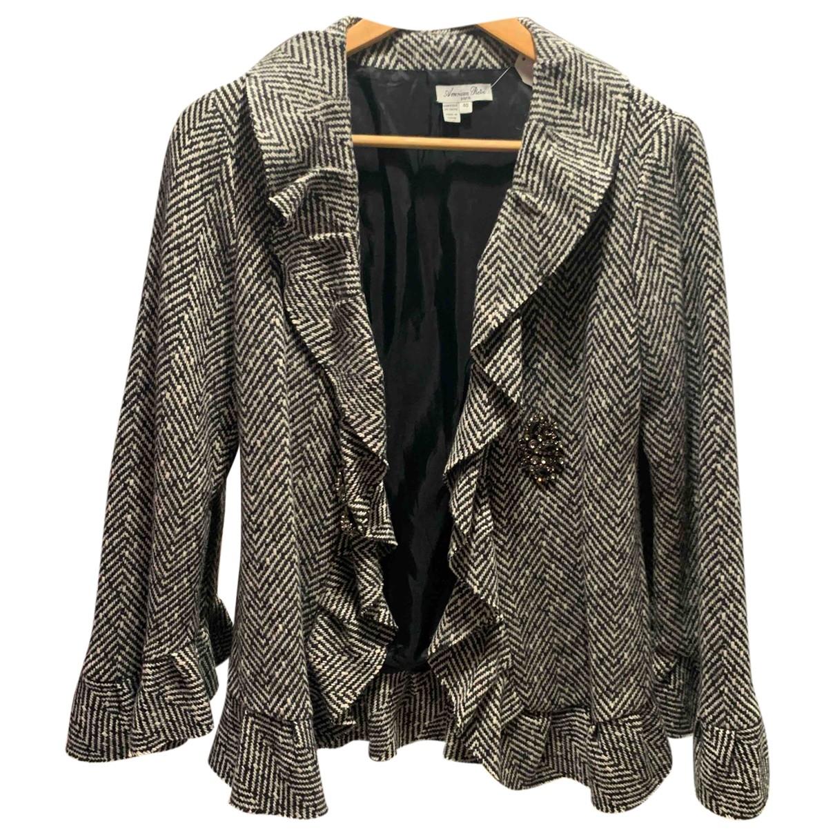 American Retro - Veste   pour femme en laine - blanc