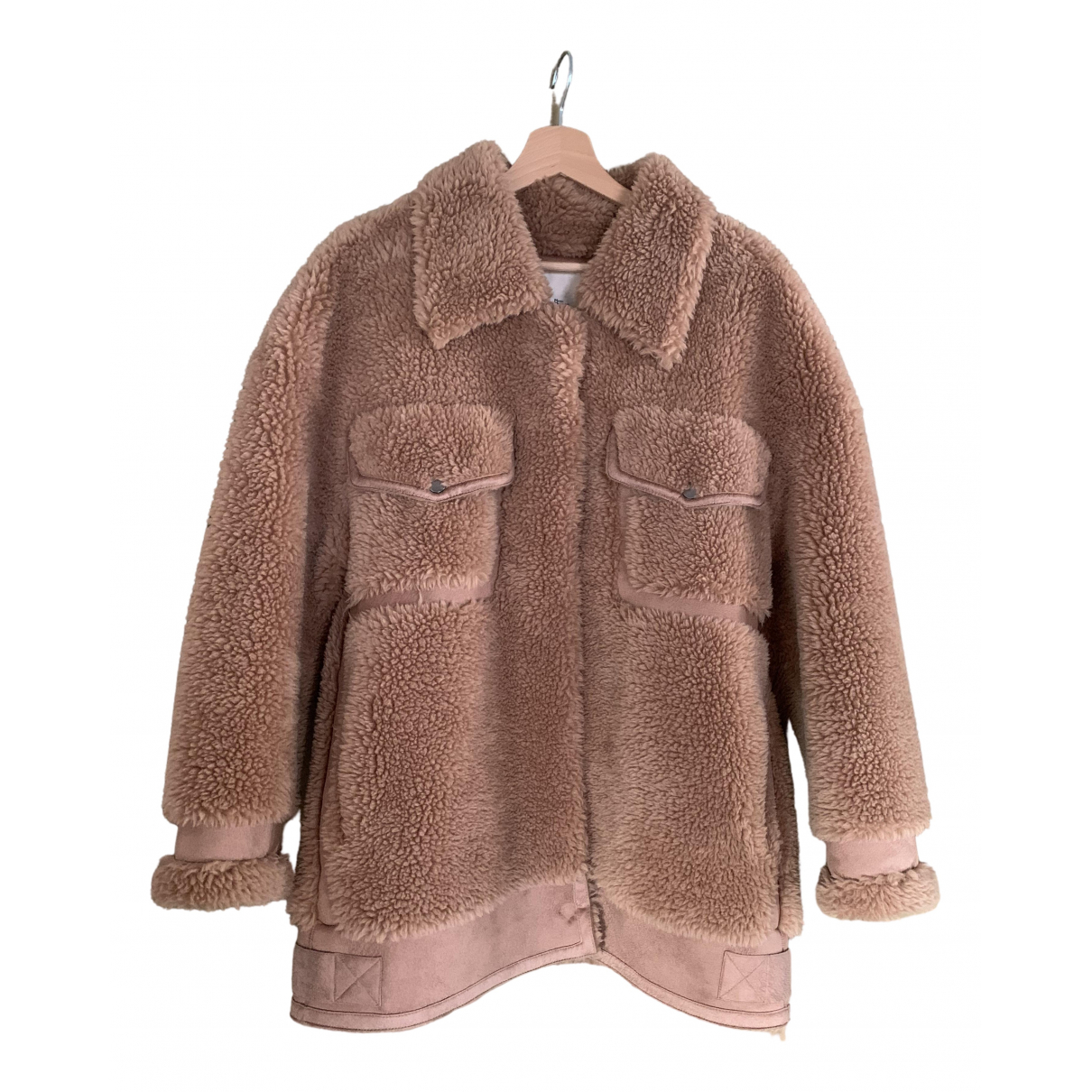 Non Signe / Unsigned \N Jacke in  Beige Synthetikpelz