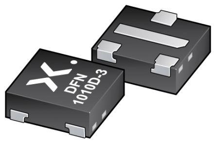 Nexperia 3 P-Channel MOSFET, -3.2 A, -12 V, 4-Pin DFN1010D-3, SOT1215  PMXB65UPEZ (5000)