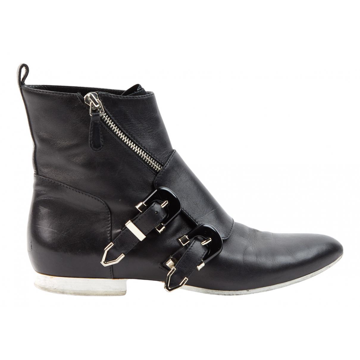Balenciaga N Black Leather Ankle boots for Women 38 EU