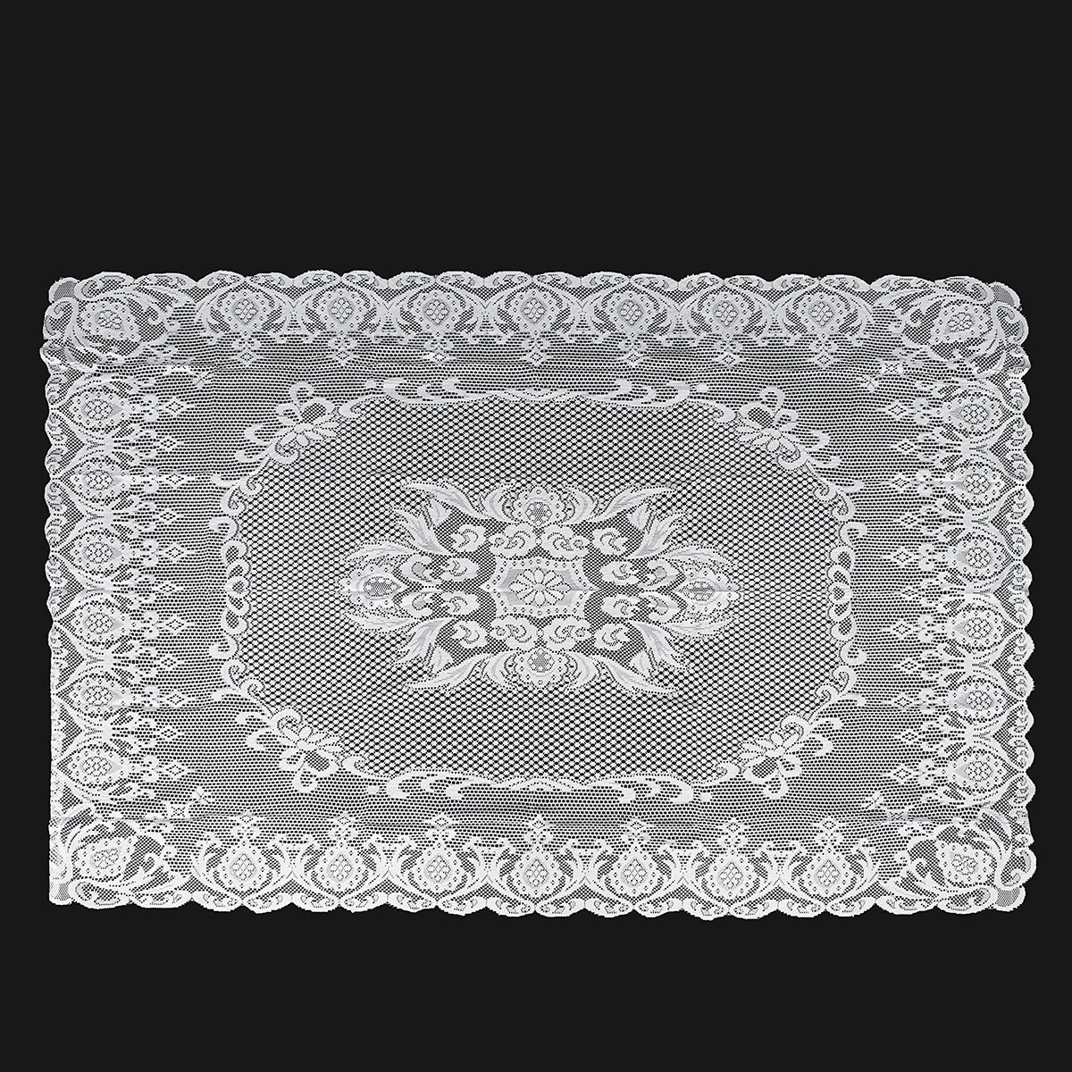 Lace Tablecloth White Vintage Large Table Cloth Cover Wedding Party Decor 1.4 x 2m