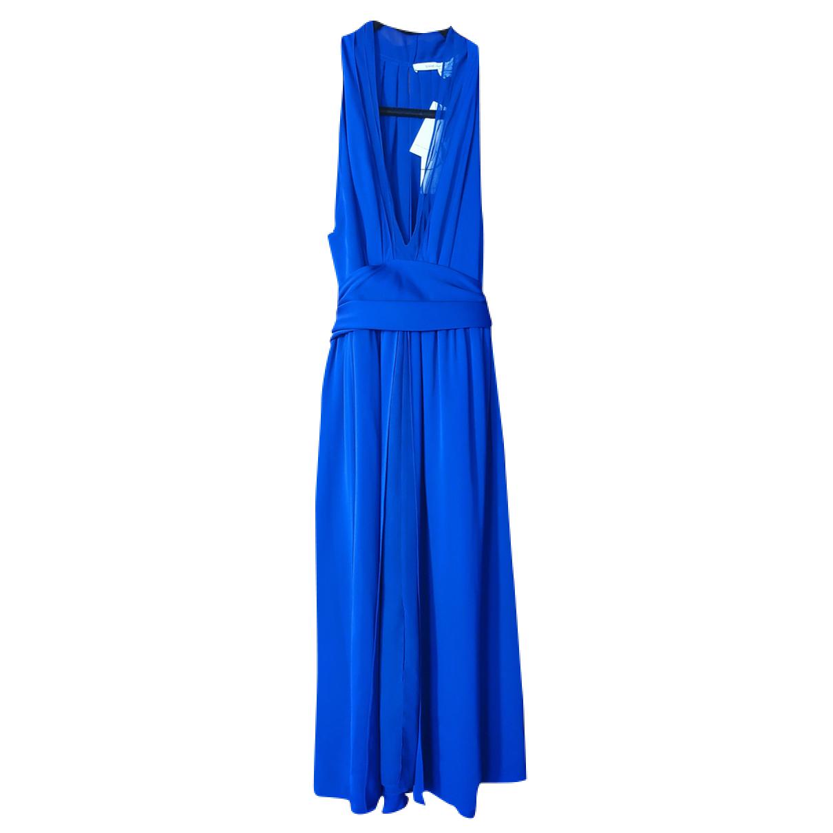Diane Von Furstenberg N Blue Silk dress for Women 4 US