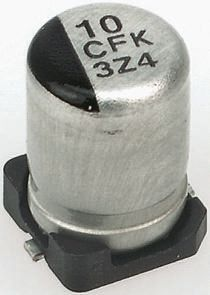Panasonic 330μF Electrolytic Capacitor 6.3V dc, Surface Mount - EEEFK0J331P (5)