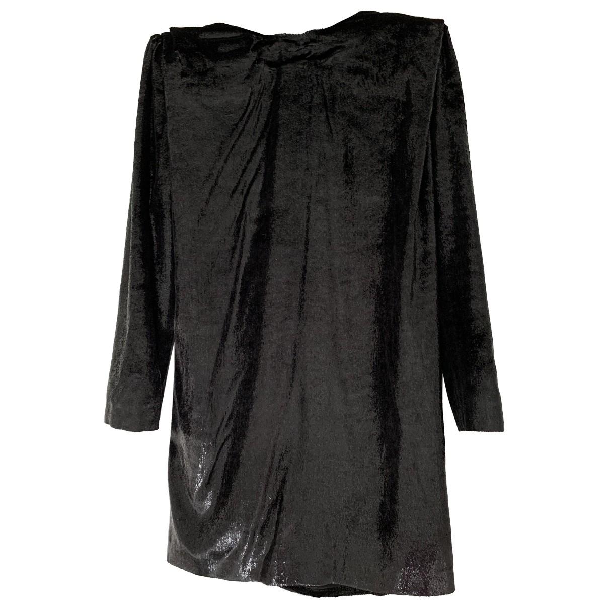 Dundas \N Kleid in  Schwarz Seide