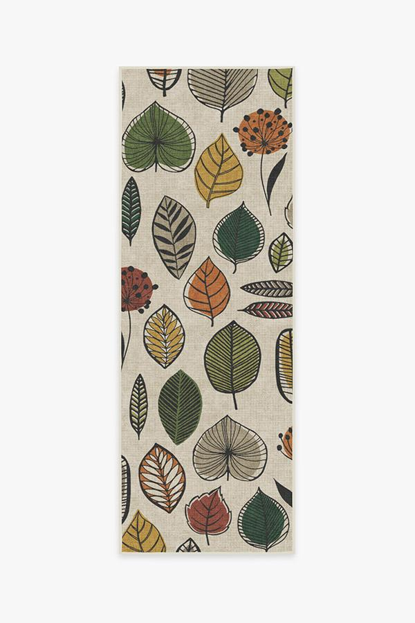 Washable Rug Cover & Pad   Folium Multicolor Rug   Stain-Resistant   Ruggable   2.5'x7'