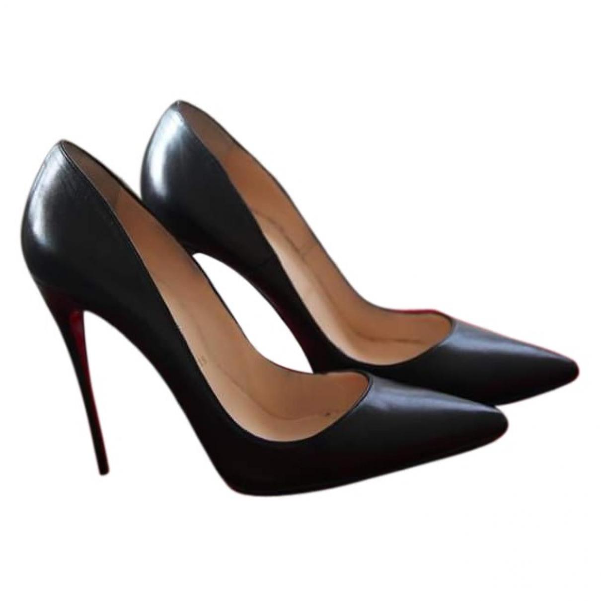 Christian Louboutin - Escarpins So Kate  pour femme en cuir - noir