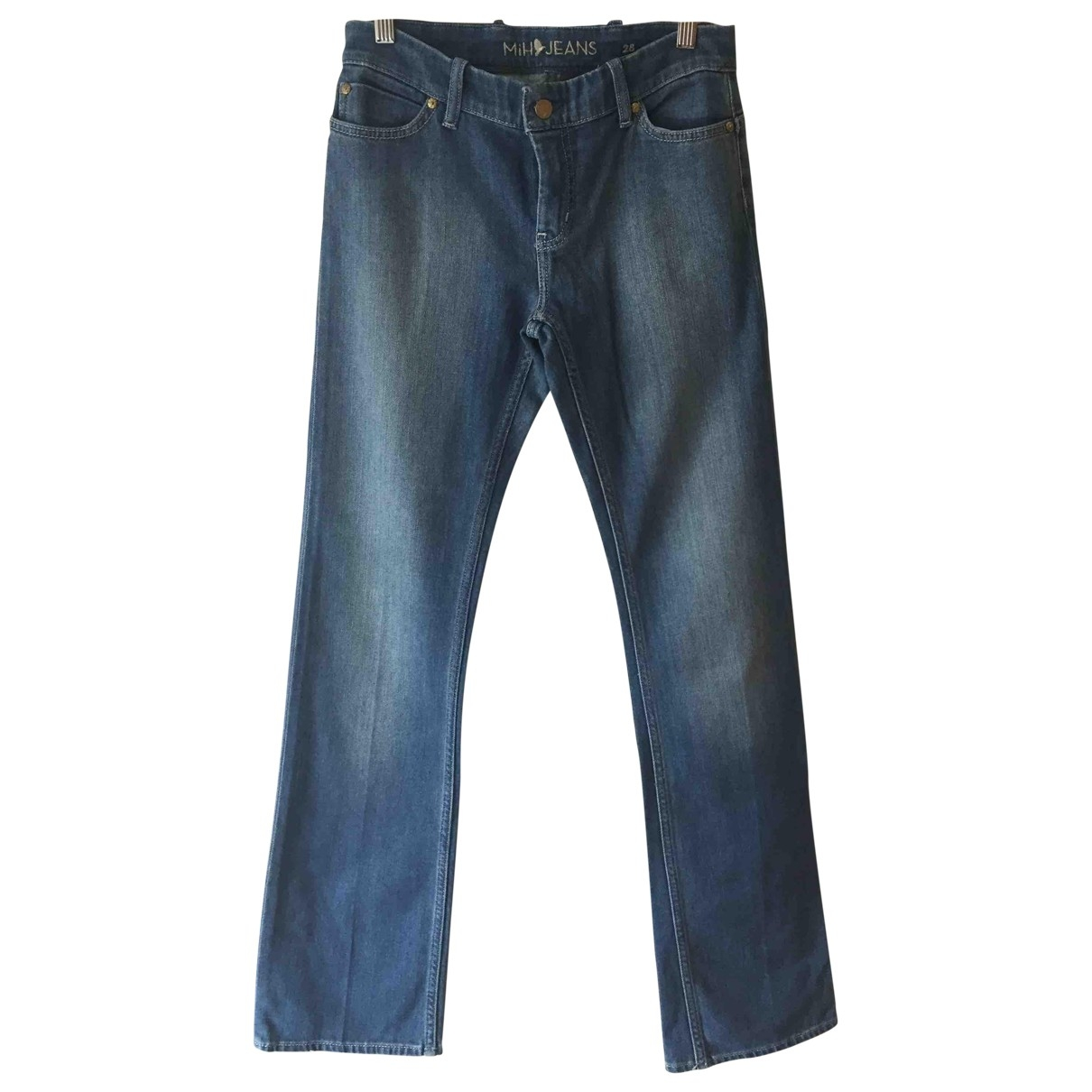 Mih Jeans \N Blue Cotton - elasthane Jeans for Women 27 US