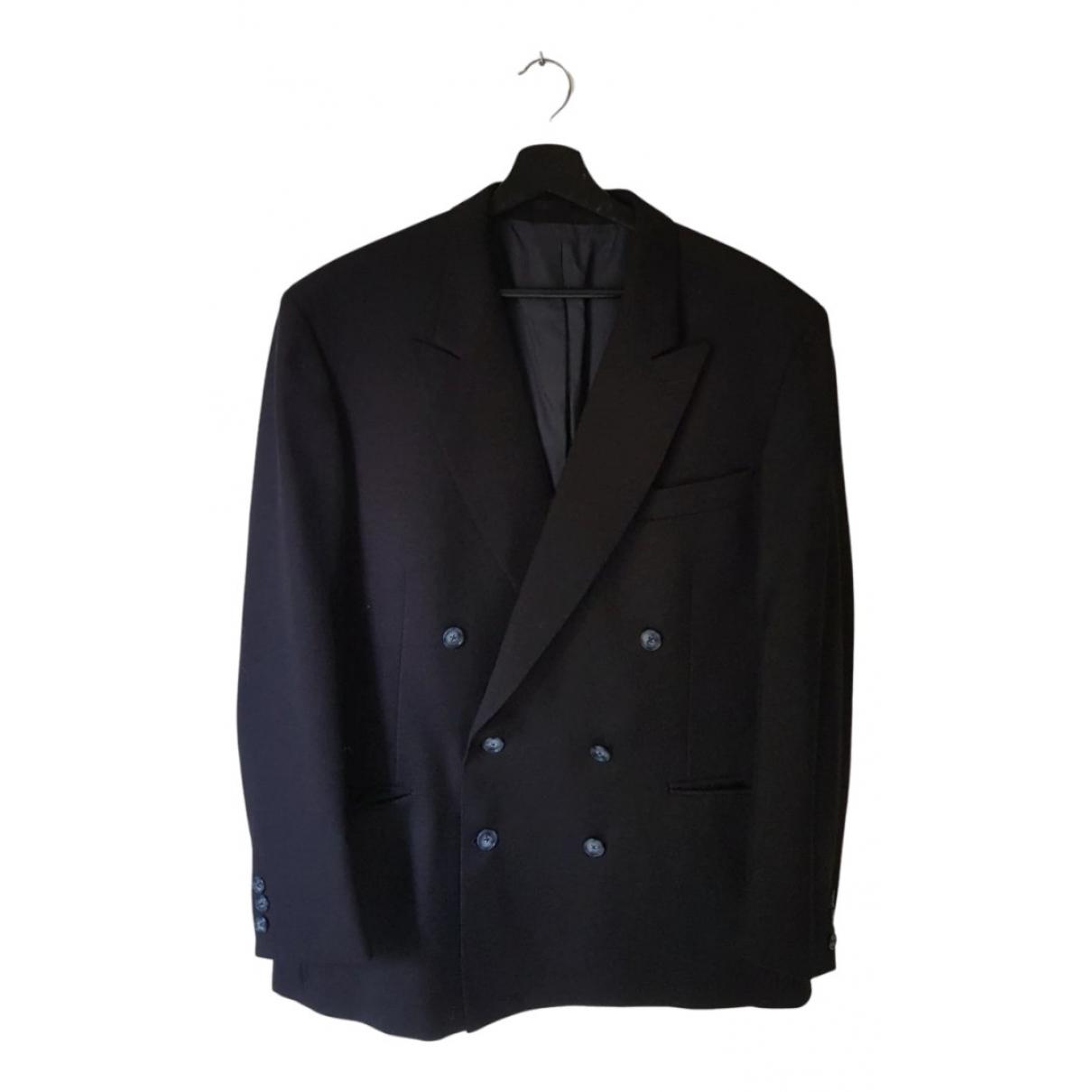 Pierre Cardin \N Anzuege in  Blau Wolle