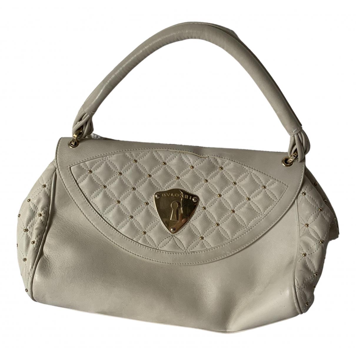 Bvlgari \N Handtasche in  Weiss Leder