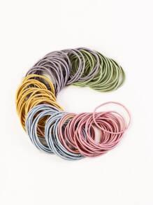 100pcs Colorful Hair Tie
