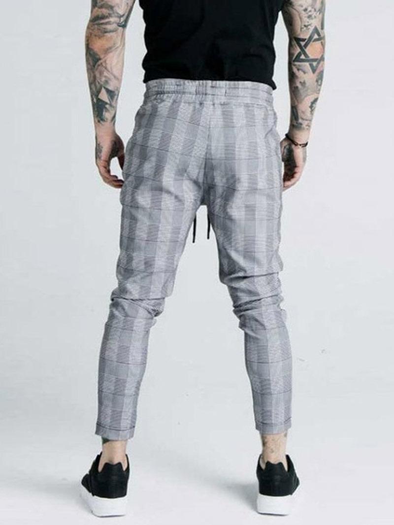 Ericdress Pencil Style Low Waist Men's Casual Pants