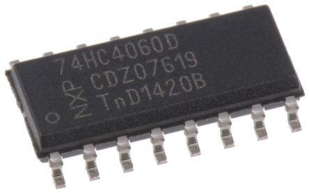 Nexperia 74HC4060D,652 14-stage Binary Counter, Up Counter, , Uni-Directional, 16-Pin SOIC