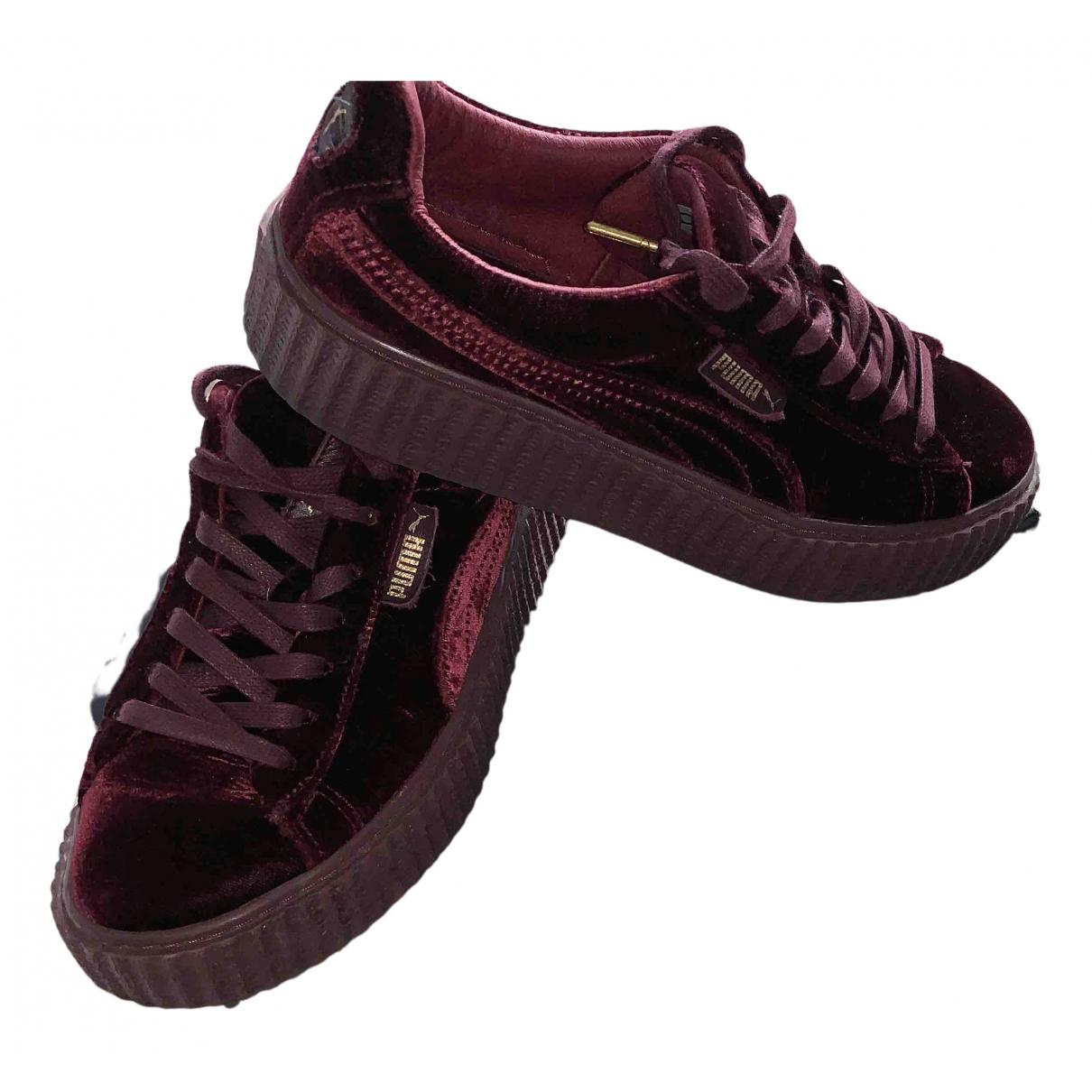 Fenty X Puma \N Sneakers in  Bordeauxrot Samt
