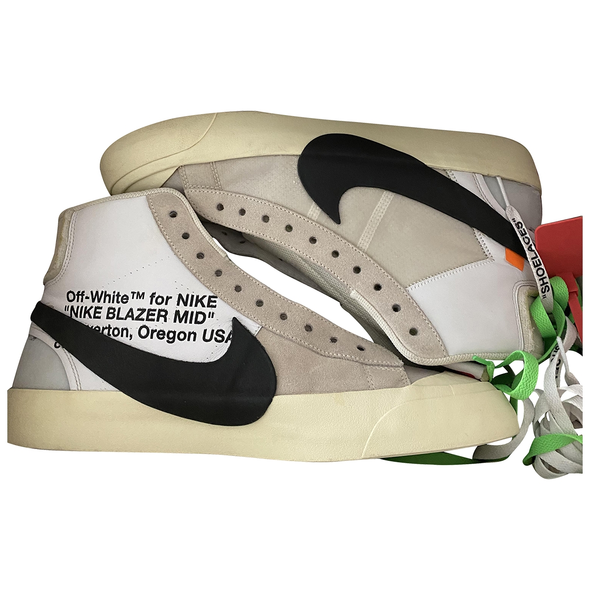 Nike X Off-white Blazer Mid White Leather Trainers for Men 11 US