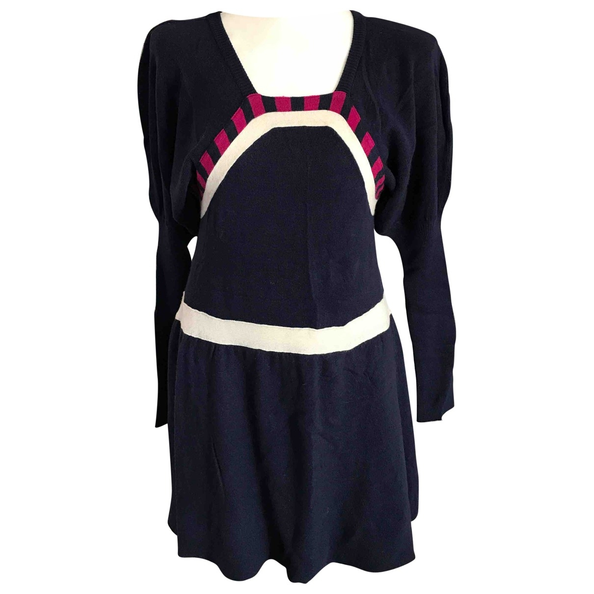 Non Signé / Unsigned \N Blue Wool dress for Women 40 IT