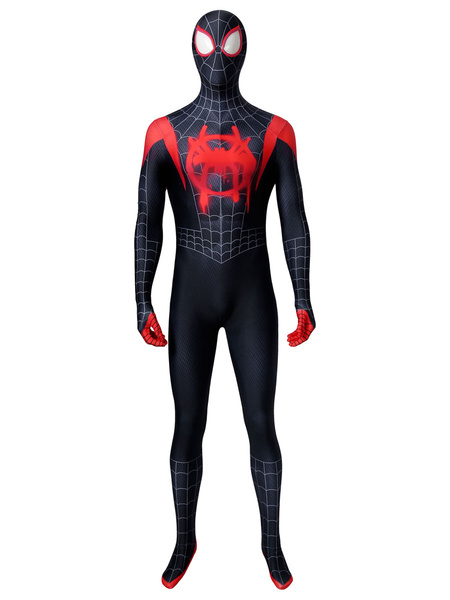 Milanoo Marvel Comics Spider Man Into The Spider Verse Miles Morales Marvel Comics Cosplay Costume For Adult