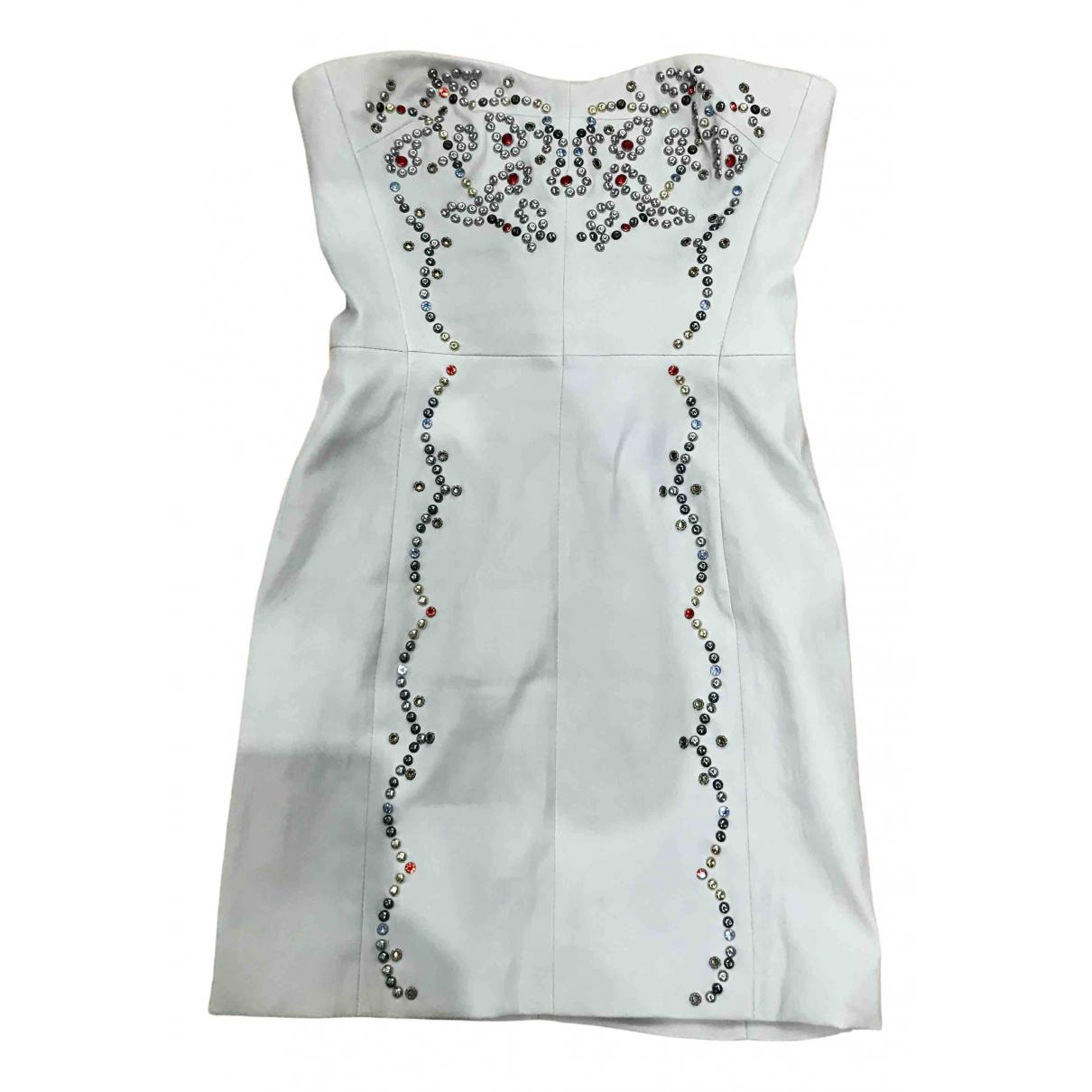 Isabel Marant \N Kleid in  Weiss Leder