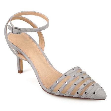 Journee Collection Womens Meera Pumps Stiletto Heel, 12 Medium, Gray