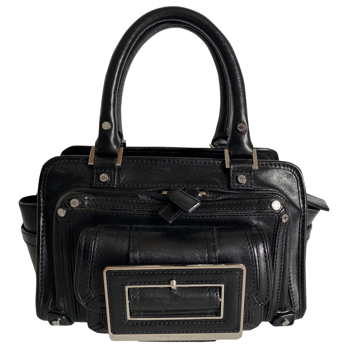 Karen Millen \N Black Leather handbag for Women \N