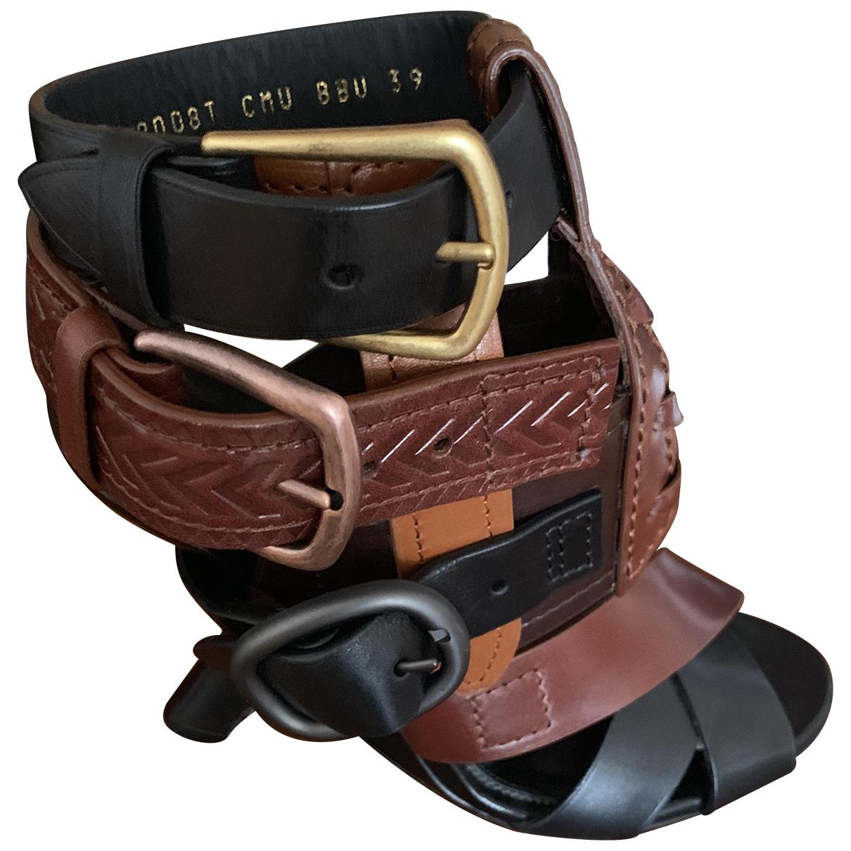 Tom Ford - Sandales   pour femme en cuir - multicolore