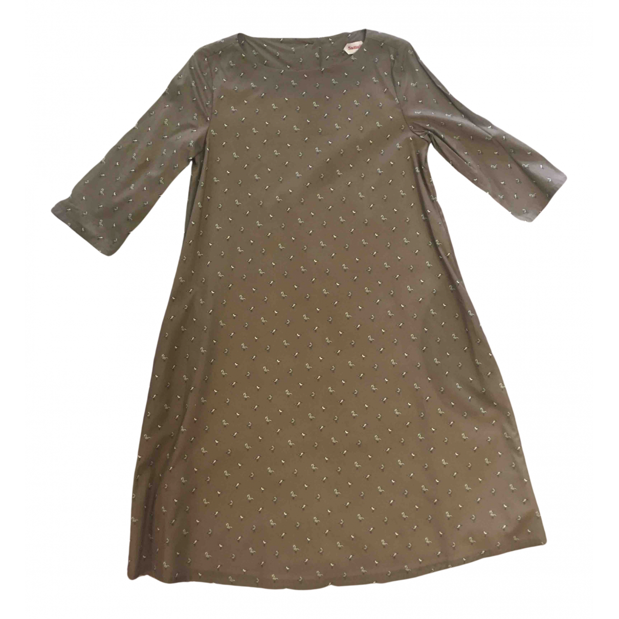 Samuji N Brown Cotton - elasthane dress for Women M International
