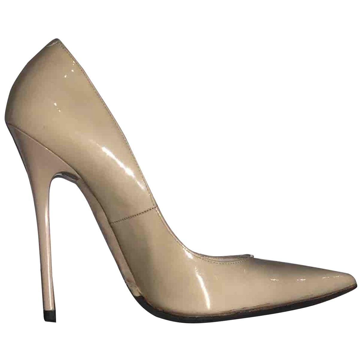 Jimmy Choo Anouk Beige Leather Heels for Women 36.5 EU