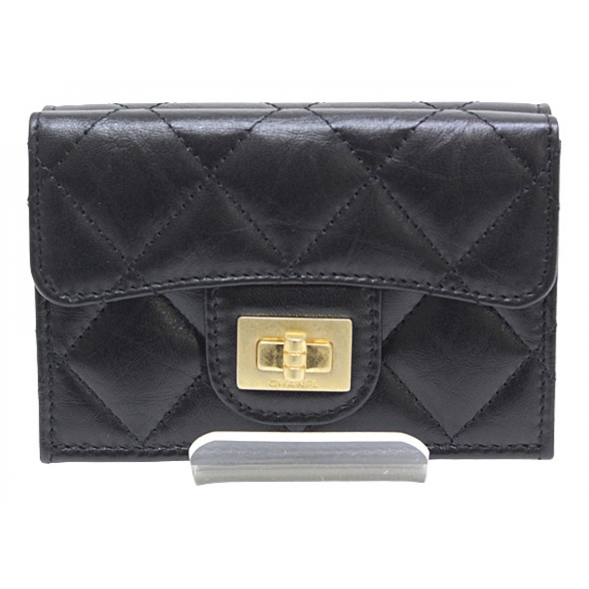 Chanel 2.55 Black Leather wallet for Women \N