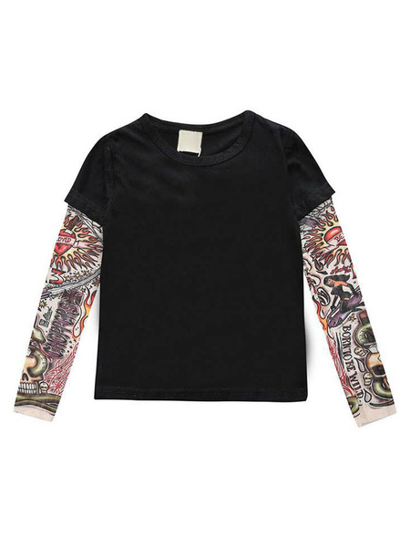 Milanoo Tattoo Sleeve Top For Baby Infant Newborn T Shirt Cotton Onesie