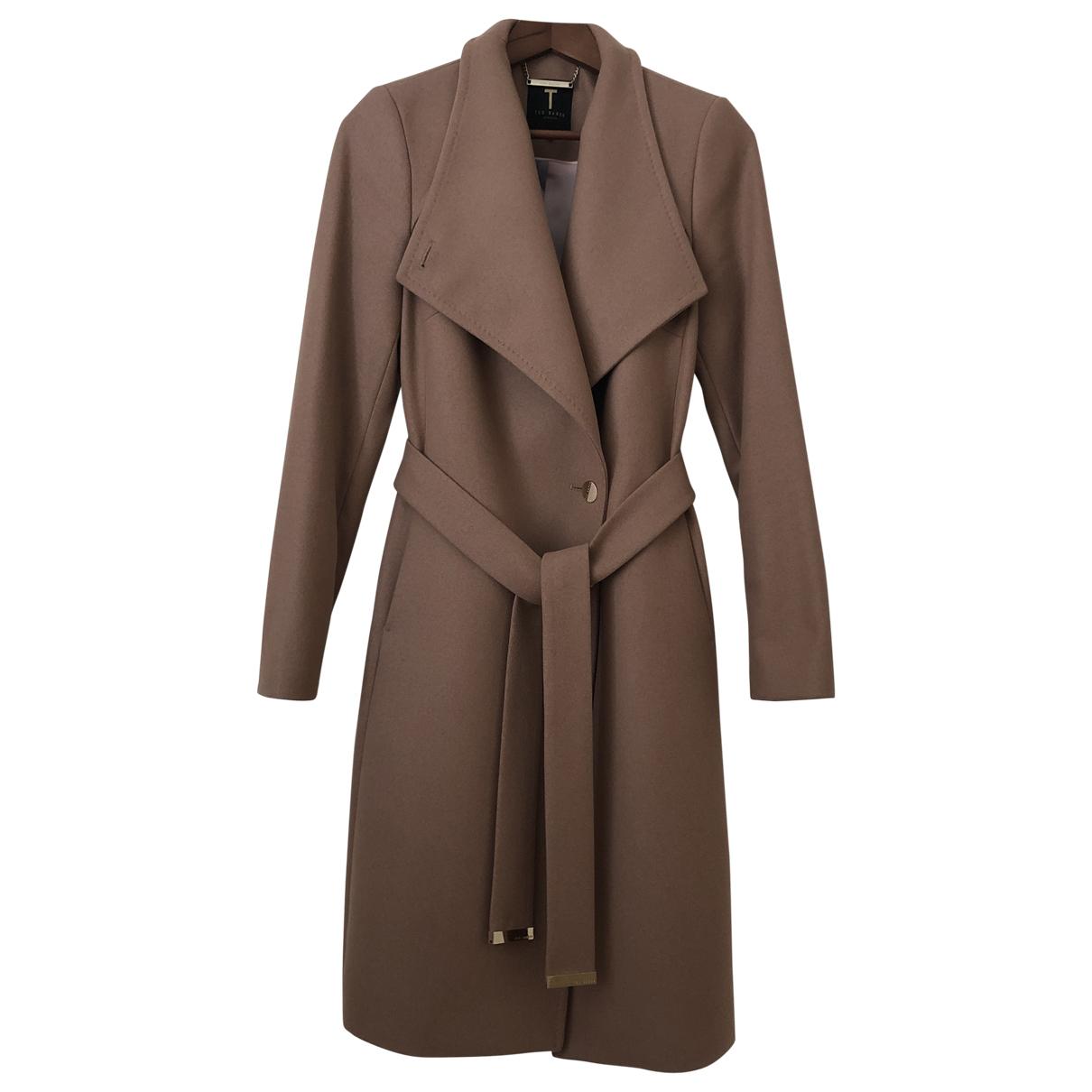 Ted Baker - Manteau   pour femme en laine - camel