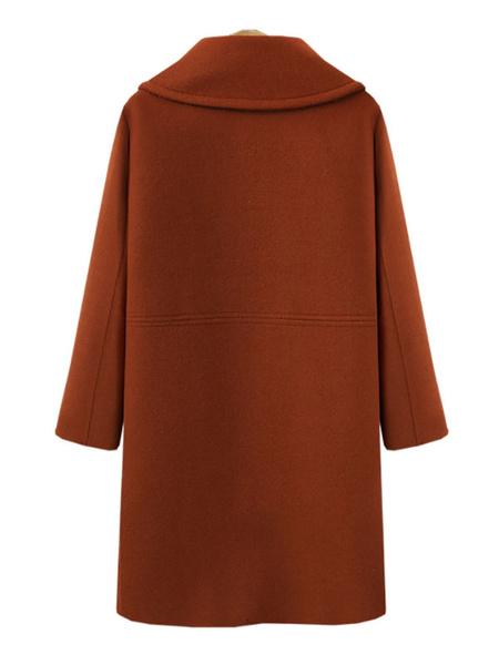 Milanoo Escudo de las mujeres de cuello de cobertura clasico de invierno ladrillo rojo Escudo de abrigo