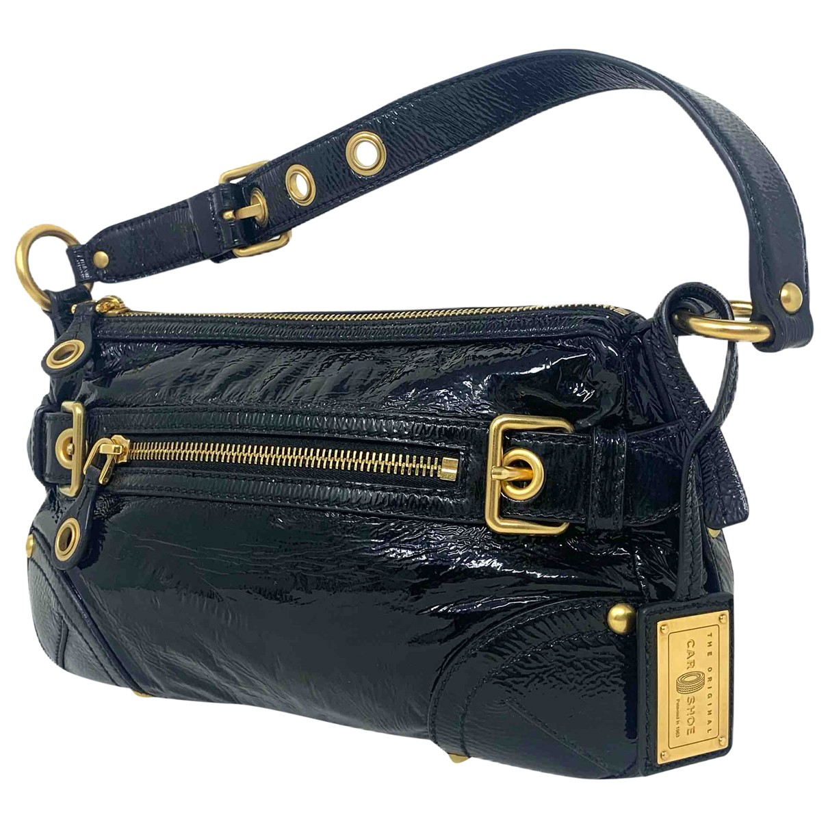 Carshoe \N Handtasche in  Schwarz Lackleder
