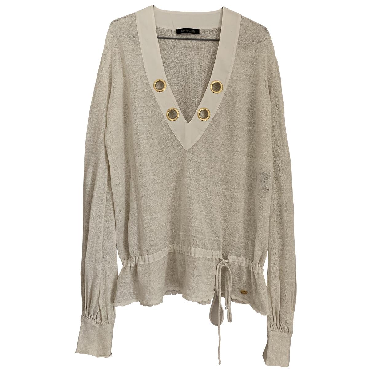 Roberto Cavalli \N Ecru Linen Knitwear for Women 42 IT