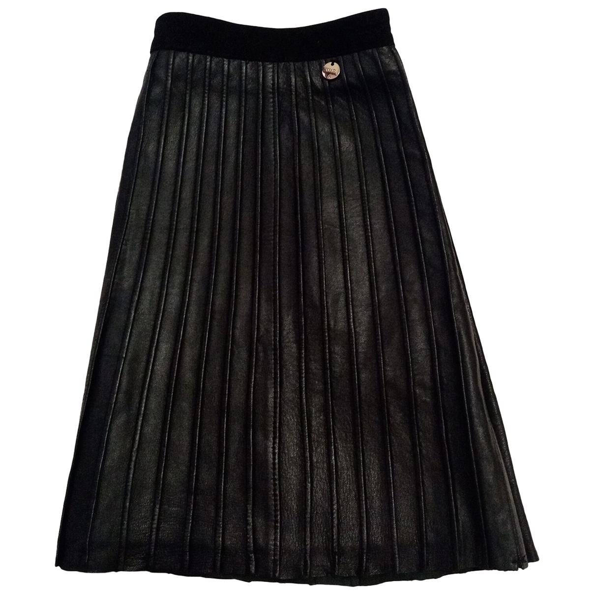 Liu.jo \N Black Leather skirt for Women 40 FR
