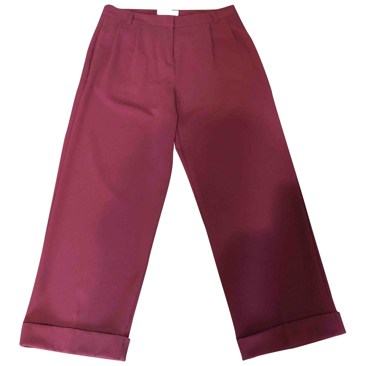 Vicolo \N Burgundy Trousers for Women M International