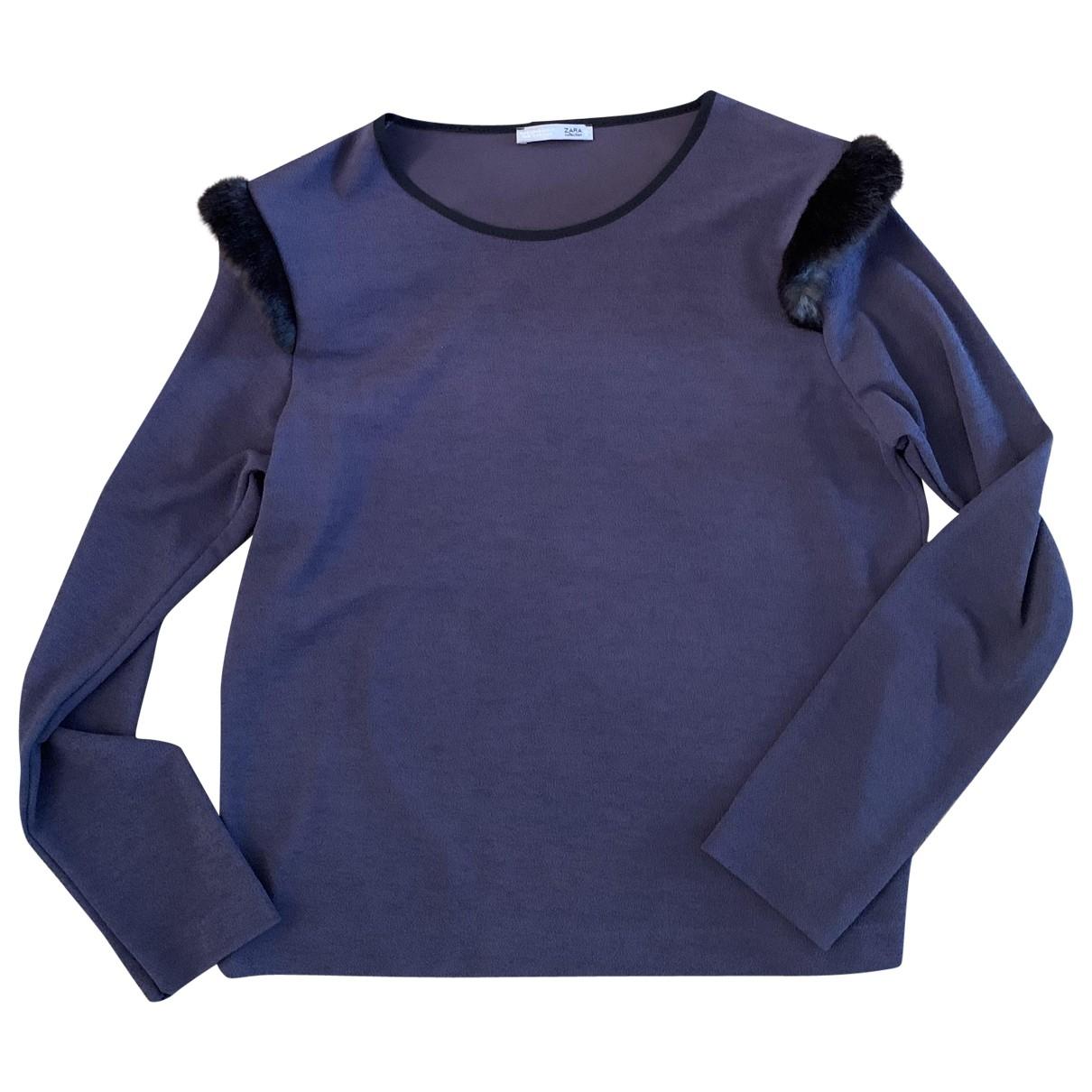 Zara \N Top in  Anthrazit Polyester