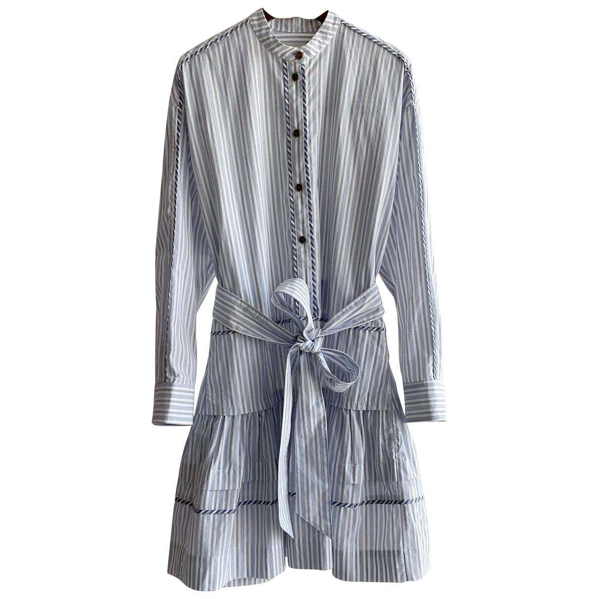 Coach - Robe   pour femme en coton - bleu