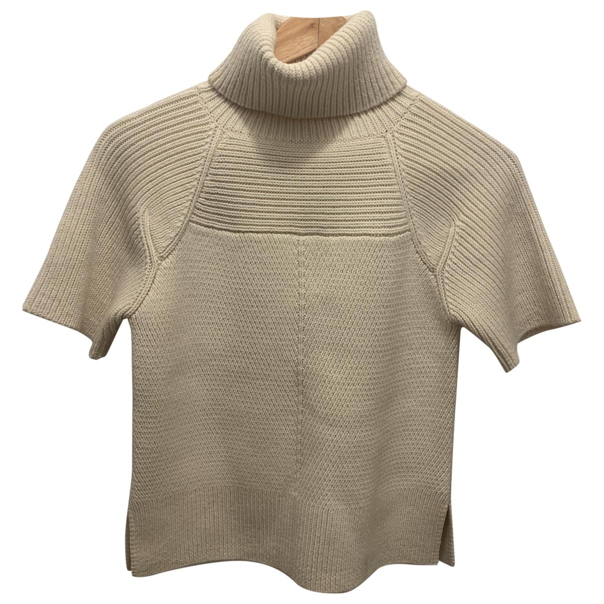 10 Crosby By Derek Lam - Pull   pour femme en laine - ecru