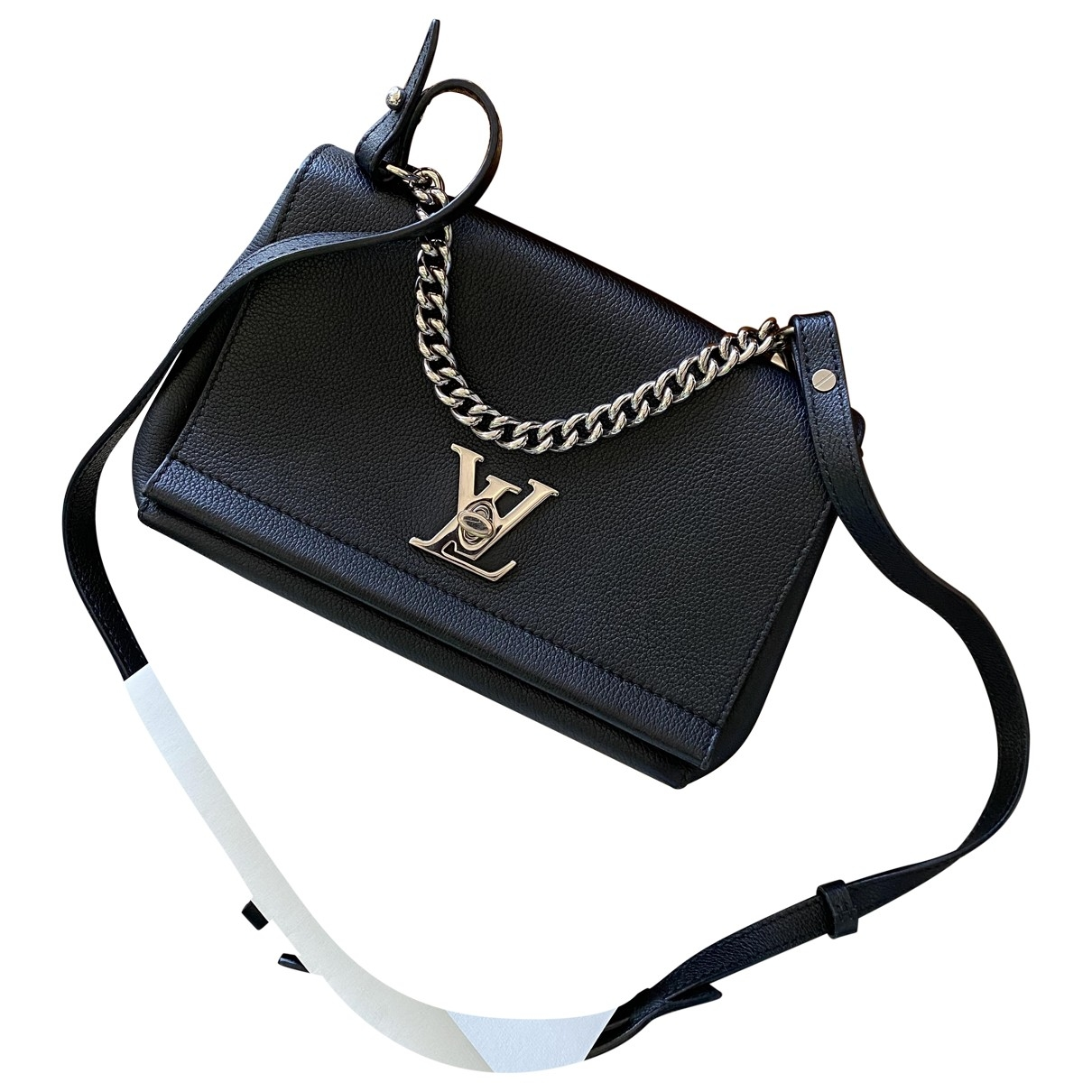 Louis Vuitton Lockme Handtasche in  Schwarz Leder