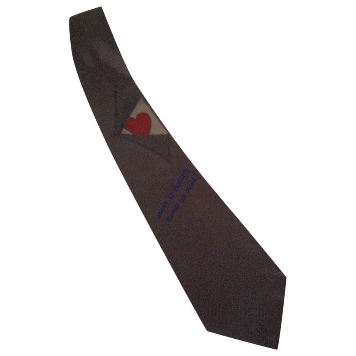 Moschino \N Anthracite Silk Ties for Men \N