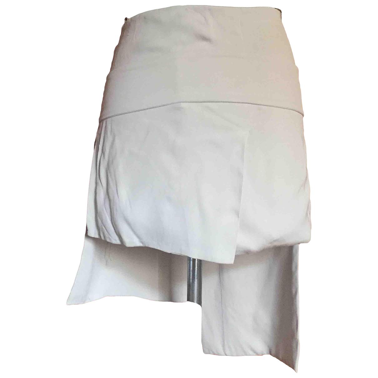Jil Sander N Beige Silk skirt for Women 38 IT